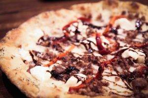Wood-fire pizzas at Forager in Rochester, MN