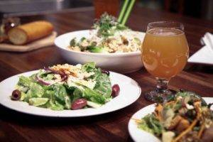 Fresh, seasonal salads with local ingredients at Forager Brewery.