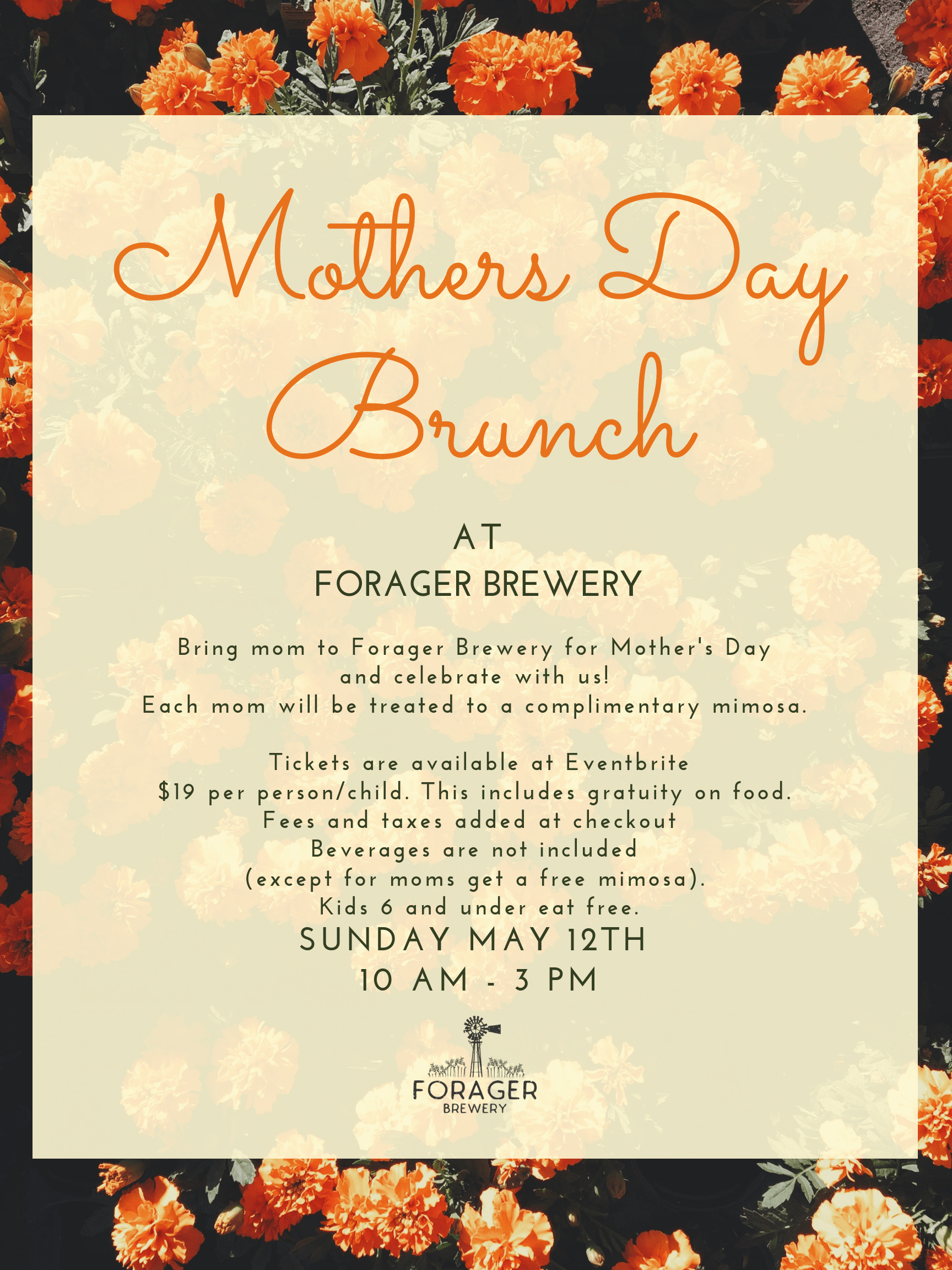 Mother's Day Brunch | Forager Brewery